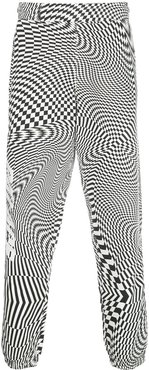 graphic print track pants - Black