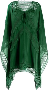 embroidered kaftan dress - Green