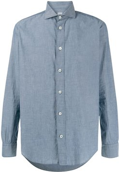 buttoned semi fitted shirt - Blue