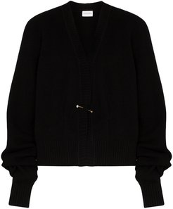 oversized sleeve knitted cardigan - Black