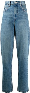 high rise tapered jeans - Blue