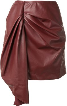 faux leather short skirt - Red