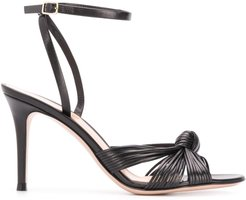 knotted sandals - Black