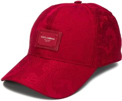 paisley pattern cap - Red