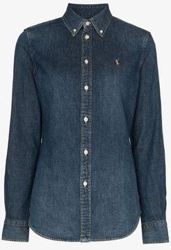 blaine polo pony denim shirt
