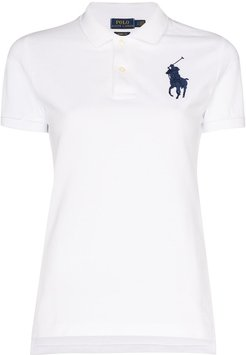 Polo Pony embroidered polo shirt - White