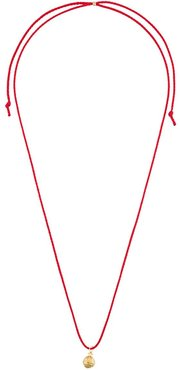 Pentacle chord necklace - Red