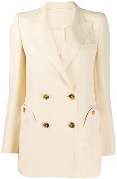 Everyday double-breasted blazer - NEUTRALS