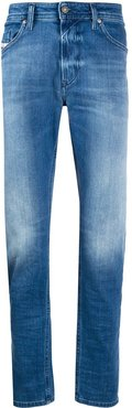 faded slim-fit jeans - Blue