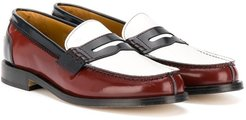 TEEN colour-block loafers - Brown