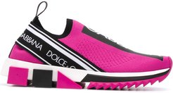 Sorrento stretch-mesh sneakers - PINK