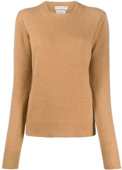 cashmere knitted jumper - Brown