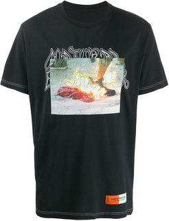 photo print T-shirt - Black