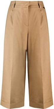 cropped wide-leg trousers - NEUTRALS