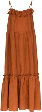Yasmin tiered maxi dress - Brown
