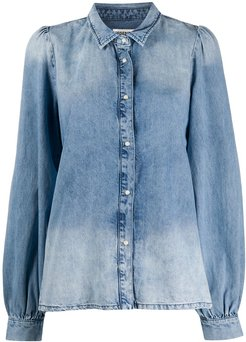 washed effect denim shirt - Blue