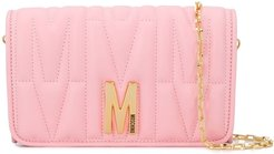 monogram quilted evening bag - PINK