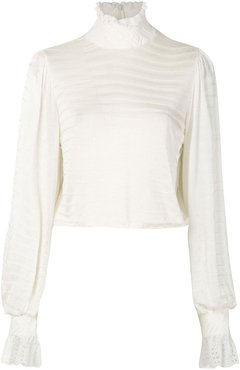 knitted Naly blouse - White