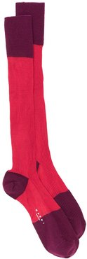 two-tone socks - Red