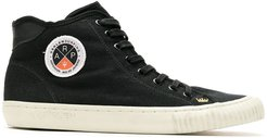 canvas high-top sneakers - Black