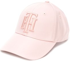 logo embroidered cap - PINK