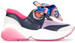Positano bow-embellished sneakers - Blue
