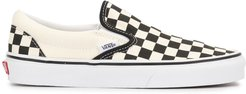 checked Slip-on sneakers - White