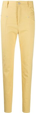 high-waist tapered jeans - Yellow