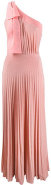 pleated maxi dress - PINK