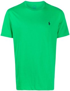 logo-embroidered crew neck T-shirt - Green