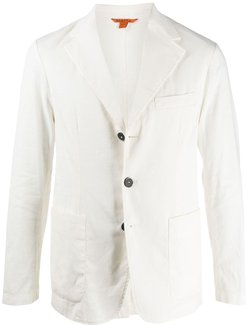 fitted single-breasted blazer - White