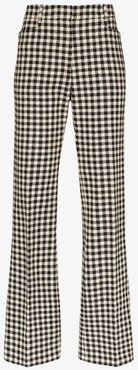 houndstooth slim leg trousers