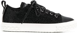 studded low top trainers - Black