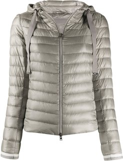hooded quilted-down jacket - Grey