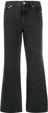cropped flared jeans - Black