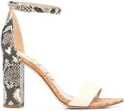 Yaro 80mm block heel sandals - NEUTRALS
