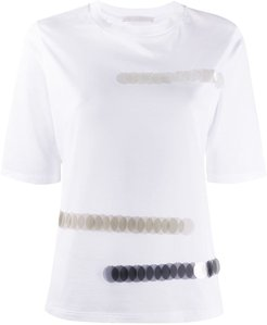 sequin-embellished crew-neck T-shirt - White