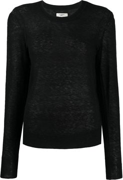 Fania sheer jumper - Black