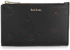 reverse appliqué beetle wallet - Black