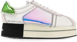 platform low-top sneakers - White