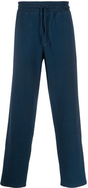 straight leg track trousers - Blue