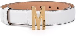 M logo-plaque belt - White