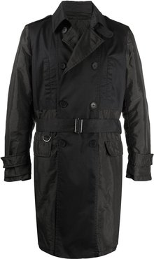 panelled trench coat - Black