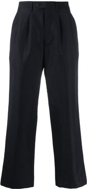 tailored wide leg trousers - Black