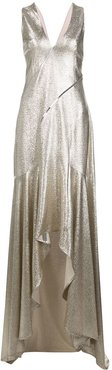 metallic evening dress - GOLD