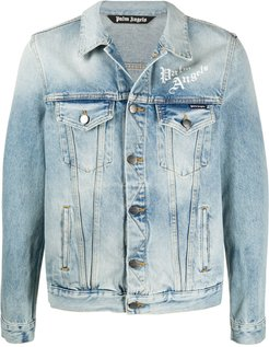 Sacred Heart denim jacket - Blue