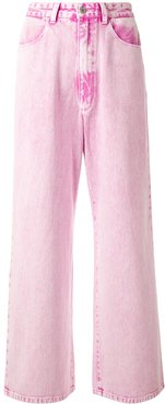 high rise wide leg jeans - PINK