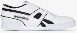white Pro Workout leather sneakers