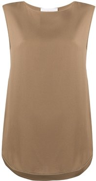 relaxed-fit sleeveless top - Brown