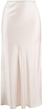 Bella satin midi skirt - NEUTRALS